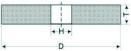 Шлифовальные круги на бакелитовой связке. Тип 1 Прямой профиль