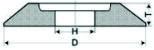 Круги шлифовальные  на керамической связке тип 3